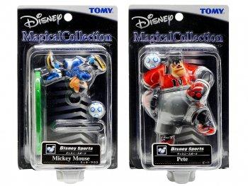 マジカルコレクション ディズニースポーツ サッカー ミッキー、ピート フィギュア 2点セット 044、045 トミー ディズニー Magical Collection