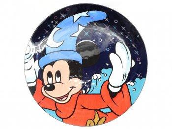 ファンタジア ソーサラーミッキー チャージャープレート テーブル装飾用絵皿 特大サイズ アート 2001年 ディズニー Socerer Mickey Charger Plate