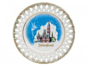 ディズニーランド スリーピングビューティー城 w/ ティンカー・ベル デザート プレート 皿 ヴィンテージ 1960年代 ティンカーベル キャッスル 絵皿 Disneyland Plate