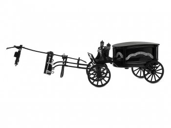 ホーンテッドマンション 霊柩車 ブラック メタルダイキャストカー テーマパーク限定 ディズニー Haunted Mansion Hearse Vehicle Black Die-Cast Metal