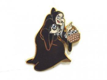 白雪姫 魔女 2003年 ピントレ イベント ピンズ ヴィラン 悪役 ウィッチ Snow White Witch Old Hag Super Star Trading Team Pin