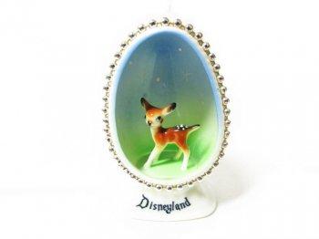 バンビ ディズニーランド エッグ型 ボーンチャイナ フィギュア ヴィンテージ 日本製 1960年代 陶器製フィギュアリン Disneyland Bambi Egg Bone China