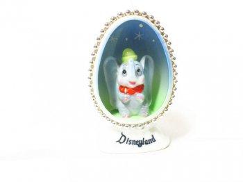 ダンボ ディズニーランド エッグ型 ボーンチャイナ フィギュア ヴィンテージ 日本製 1960年代 陶器製フィギュアリン Disneyland Dumbo Egg Bone China