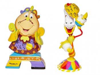 ロメロ・ブリット 美女と野獣 ルミエール & コグスワース ミニ フィギュア 2点セット Cogsworth & Lumiere Mini set Disney by BRITTO