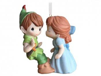 ホールマーク 2020 オーナメント ピーターパン&ウェンディ キス プレシャスモーメント ポーセリン 限定版 ディズニー Peter Pan and Wendy Precious Moments