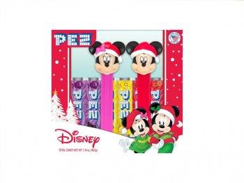 PEZ ミッキー & ミニー サンタ帽 クリスマス ボックス入り 2点セット ペッツ Mickey & Minnie Christmas Santa Claus