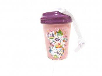 スターバックス コーヒー セラミック タンブラー オーナメント ピンク DL アトラクションマップ ディズニーランド限定 スタバStarbucks Happy Holidays