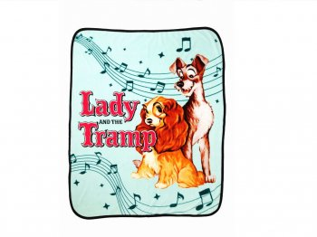 わんわん物語 レディ&トランプ フリース スロー ブランケット 毛布 122cm x 152cm ラージサイズ ディズニー Lady and the Tramp Super Plush Throw