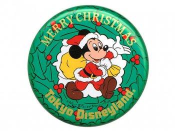 TDL クリスマス 1984年 サンタミッキー 缶バッジ 缶バッチ 東京ディズニーランド