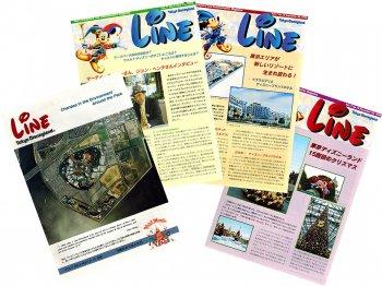 東京ディズニーランド キャスト社内誌 LINE 1998年 Vol.17 4点セット No3.6.15.19 TDL 15周年