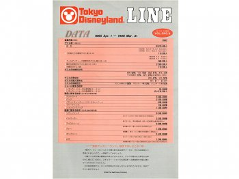 東京ディズニーランド キャスト社内誌 LINE VOL.5 No.9 1986 TDL パークのデータ