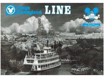東京ディズニーランド キャスト社内誌 LINE VOL.10 No.16 1991 TDL マークトゥエイン号