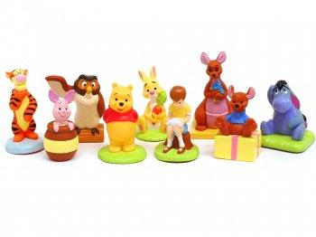 ディズニー キャラパーティ くまのプーさん 2002年 ミニソフビ フィギュア 9点セット トミー 食玩 Disney Winnie-the-Pooh