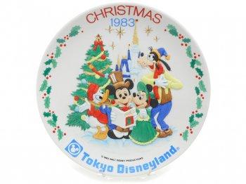 東京ディズニーランド クリスマス 1983年 レリーフ プレート 絵皿 ミッキー&フレンズ TDL