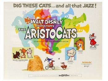 おしゃれキャット オリジナル ロビーカード 9枚セット 1970年 ヴィンテージ アリストキャット ディズニー アート The Aristocats Lobby Cards