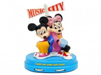 ミッキー&ミニー フィギュア AMラジオ ヴィンテージ 1980年代 ボックス入り ディズニー Mickey & Minnie Tronics AM Radio