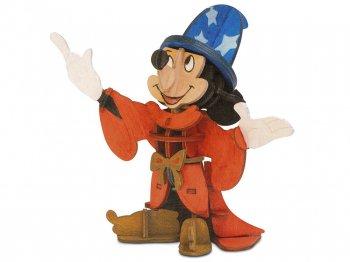 インク & ペイント ソーサラーミッキー 木製 立体パズル セット 画材付き ディズニーテーマパーク限定 ファンタジア 魔法使い Sorcerer Mickey Mouse 3D Wood Model