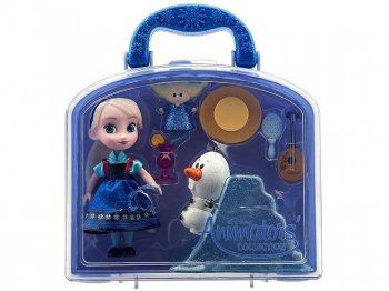 アナと雪の女王 エルサ & オラフ ミニドール プレイセット バッグ付き ディズニー アニメーターズ コレクションドール 人形 Disney Animators' Collection