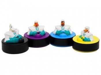 マイティ・ダックス マクドナルド ミールトイ 4点コンプリートセット 1996年 ディズニー アイスホッケー パック フィギュア ハッピーセット Disney Mighty Ducks