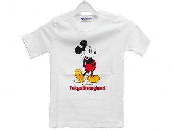 東京ディズニーランド ミッキー ヴィンテージ Tシャツ 子ども用 100サイズ 1983年 ホワイト 白 TDL Mickey
