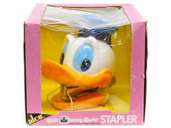 ドナルド ホッチキス フィギュア ヴィンテージ オリジナルボックス入り 1972年 ステープラー ディズニーテーマパーク限定 WDW Donald Stapler