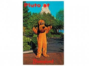 プルート ディズニーランド ポストカード 絵はがき 1970年代 ヴィンテージ Pluto at Disneyland Postcard