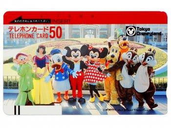 東京ディズニーランド ミッキー&フレンズ テレホンカード 1986年 オリジナルケース付き メインエントランス ミッキー花壇 TDL