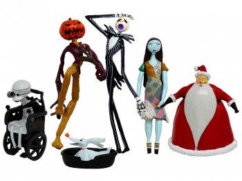 ガチャポン ナイトメアー・ビフォア・クリスマス PVCフィギュア 6点コンプリートセット ユージン 2000年 ディズニー NBC Capsule Toys