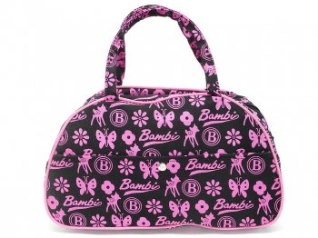 バンビ ミニキャンバス ボストンバッグ ピンク モノグラム パターン柄 ディズニー 2000年代 Bambi