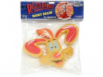 ロジャーラビット フェイス ハンドパペット スクイーズトイ アプローズ社 ヴィンテージ ディズニー 1988年 Roger Rabbit Wacky Heads Applause