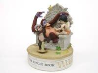 ジャングルブック オルゴール付き 1980年代 ビスク フィギュア ディズニー ヴィンテージ フィギュアリン グロリア社