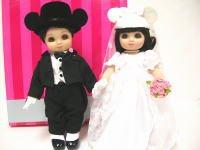 マリーオズモンド アドラ・ボー&ベル ウェディング ドール 人形 2体セット ディズニー ミッキーマウスイヤーハット Marie Osmond Wedding Adora Beau & Belle