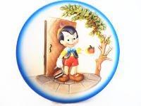 ANRI アンリ社 ピノキオ 木彫り ミニレリーフプレート 絵皿 ディズニー