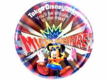 東京ディズニーランド ミクロアドベンチャー アトラクション 1997年 オープン記念 缶バッジ 缶バッチ TDL