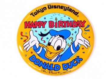 東京ディズニーランド TDL 1984年 ドナルドバースデー記念 缶バッジ 缶バッチ
