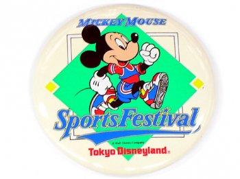 東京ディズニーランド スポーツフェスティバル イベント 缶バッジ 缶バッチ 1990年 Sports Festival TDL