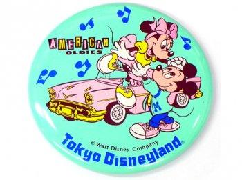 東京ディズニーランド アメリカン・オールディーズ 1989年 ミッキー&ミニー イベント 缶バッジ 缶バッチ American Oldies TDL