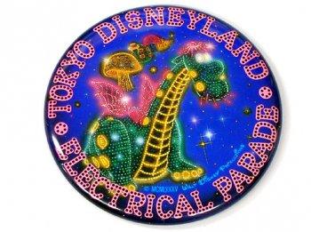 東京ディズニーランド TDL エレクトリカルパレード オープン記念 1985年 エリオット ドラゴン 缶バッジ 缶バッチ