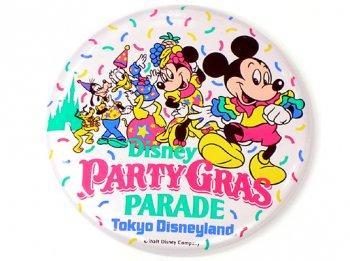 東京ディズニーランド パーティー・グラ・パレード イベント 缶バッジ 1991年 缶バッチ TDL PARTY GRAS PARADE