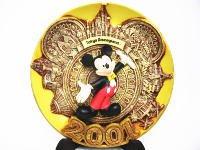 TDL 2001年 ニューセンチュリー記念 ミッキー レリーフプレート 絵皿 東京ディズニーランド