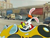 ディズニー ロジャーラビット 映画 オリジナルプロダクションセル画 ロジャー&ベニーカー Roger Rabbit Original Productions Cel