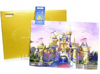 カリフォルニア ディズニーランド50周年 2005年 記念パスポート チケット アートディスプレイ付き