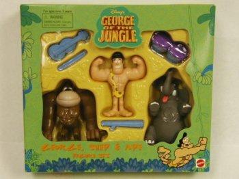 ディズニー映画 George Of The Jungle PVC フィギュア ボックス入り セット