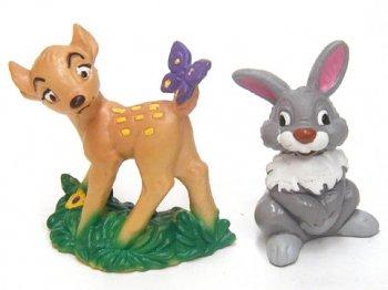 バンビ&サンパー(とんすけ) Bully社 PVC 2点セット ディズニー