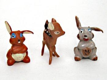 バンビ、サンパー(とんすけ)、ミスバニー PVCフィギュア 3点セット ディズニー