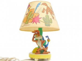 ルーニー・テューンズ ロードランナー&ワイリーコヨーテ ランプ ヴィンテージ Looney Tunes Roadrunner & Wile E. Coyote Lamp 1977年 ライト 照明