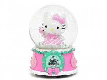 ハローキティ クリスマス スノーグローブ オルゴール ハッピーホリデイズ Hello Kitty Happy Holidays Waterglobe