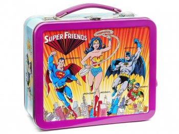 スーパーフレンズ ランチボックス TIN缶 復刻版 ホールマーク ワンダーウーマン バットマン スーパーマン スーパーヒーロー DCコミック 1998年 Hallmark
