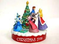 スリーピングビューティ 眠れる森の美女 クリスマス1999年 ポーセリンビスクフィギュア ディズニー フィギュアリン グロリア社