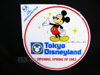 TDL SPRING OF 1983 OPENING グランドオープン記念 ミッキー 丸型 ステッカー 東京ディズニーランド